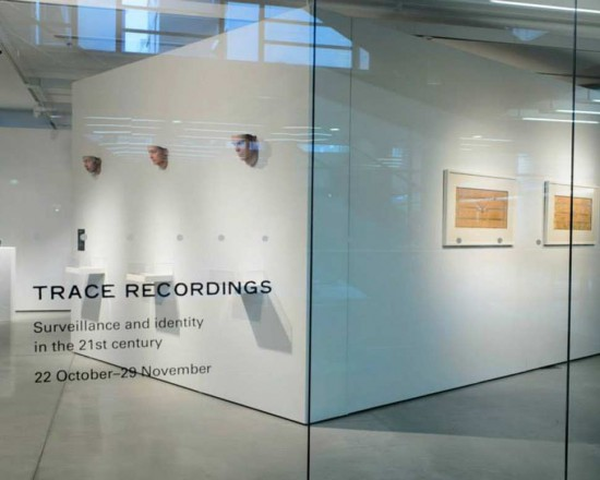 A photograph of the exhibition 'Trace Recordings'
