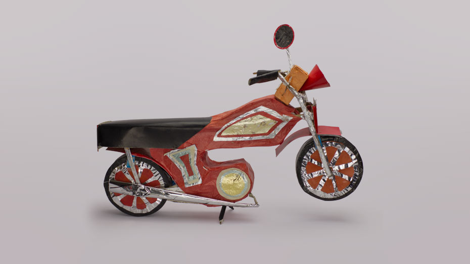 A paper motorbike
